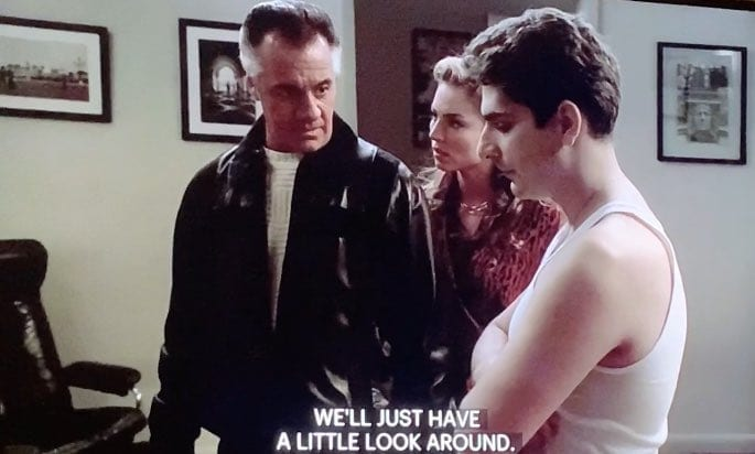 Paulie in Christopher's Apartment in season 3 of The Sopranos