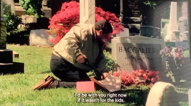 Bobby Baccalieri at Karen's Grave in Calling All Cars