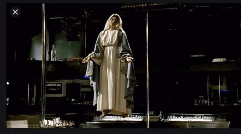 Virgin Mary at the Bada Bing