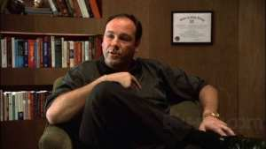Tony Soprano is talking to his therapist. Dr. Melfi, in her office.