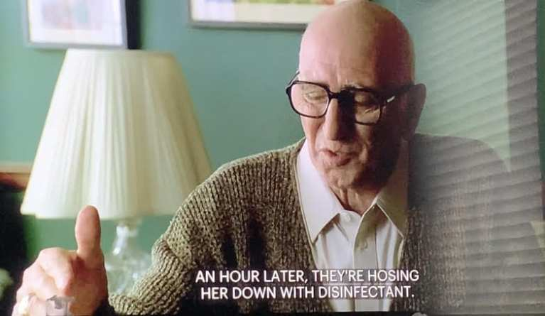 "Junior Soprano talking to Dr. Kennedy in ""Second Opinion"""