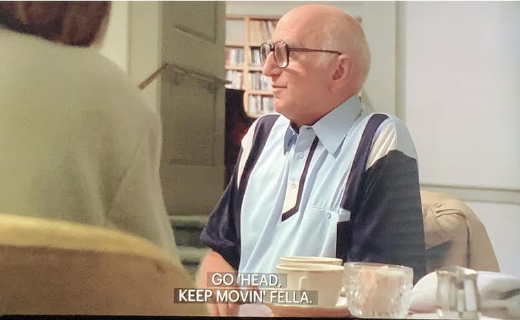 Junior Soprano talking to Livia Soprano at Green Grove, Season 1, Episode 6, Pax Soprana