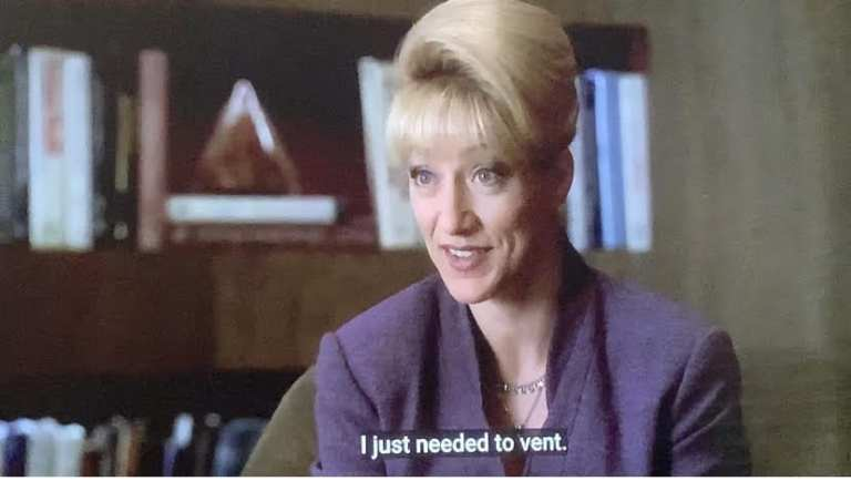Carmela talking to Dr. Melfi