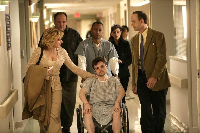 The Soprano family in the psychiatric unit of the hospital.