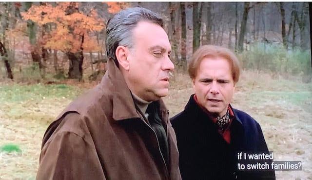 Ralph Cifaretto talking to Johnny Sack outside on Thanksgiving.