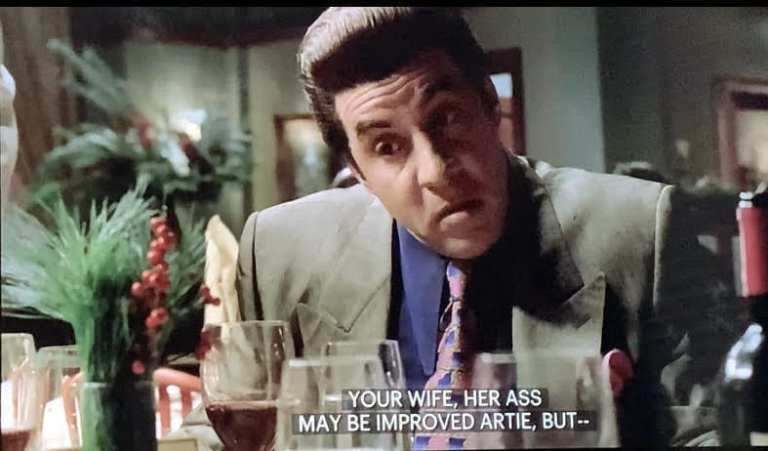 Silvio Dante talking to Tony and Paulie at Vesuvio