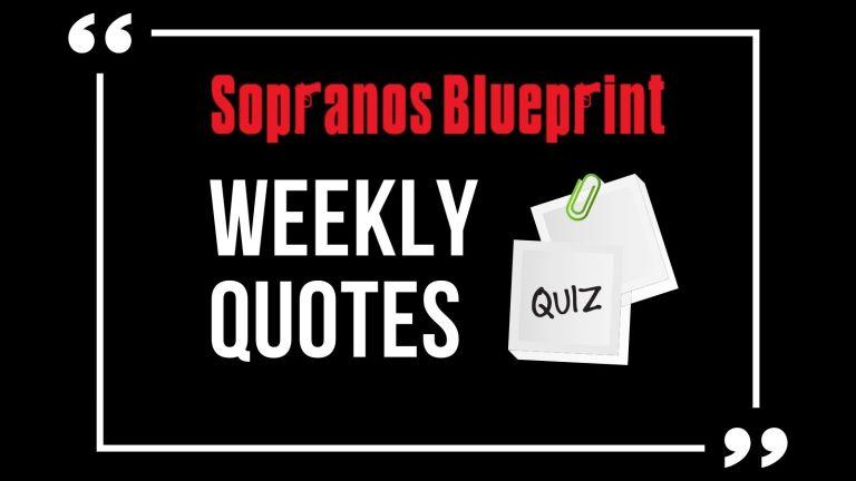 Sopranos Weekly Quotes Quiz Cover Image