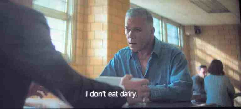 hollywood dickie moltisanti is telling dickie moltisanti he doesn't eat dairy.