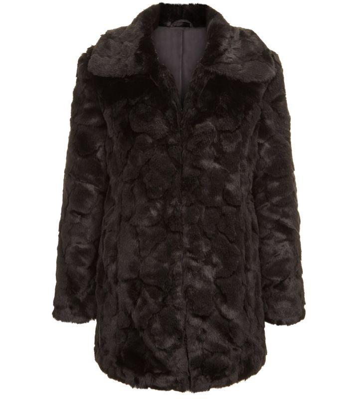 blue-vanilla---manteau-noir-en-fourrure-synthétique