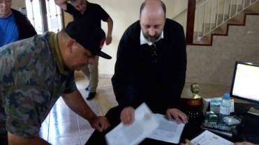 Firmado de las Actas
