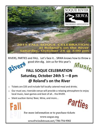 Make Plans for the Fall Soque Celebration ~ October 24th