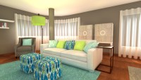 Turquoise And Lime Green Living Room | Interior Design Ideas