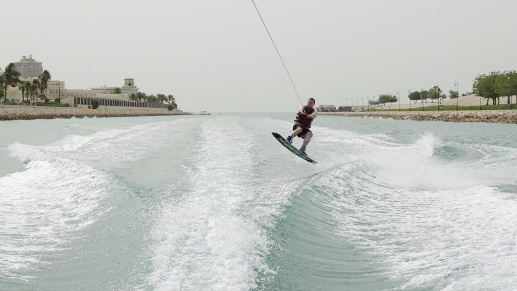 Wakeboard jump doha