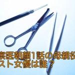 監察医朝顔1話の母親役のゲスト女優は誰?山田キヌヲの本名や由来は?