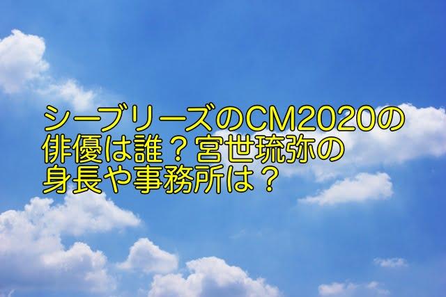 シーブリーズ cm 2020 俳優