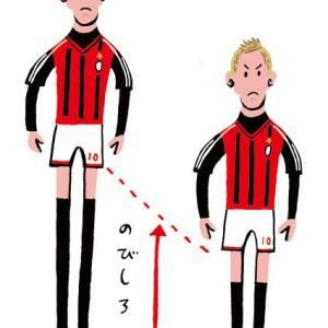 サッカー選手の本田圭佑選手のイラスト