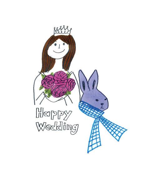 イラストレーター豊島宙が描いた結婚式のイラスト