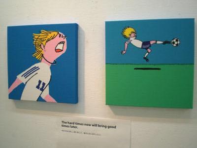 豊島宙が描いたサッカー選手の鈴木隆行のイラスト