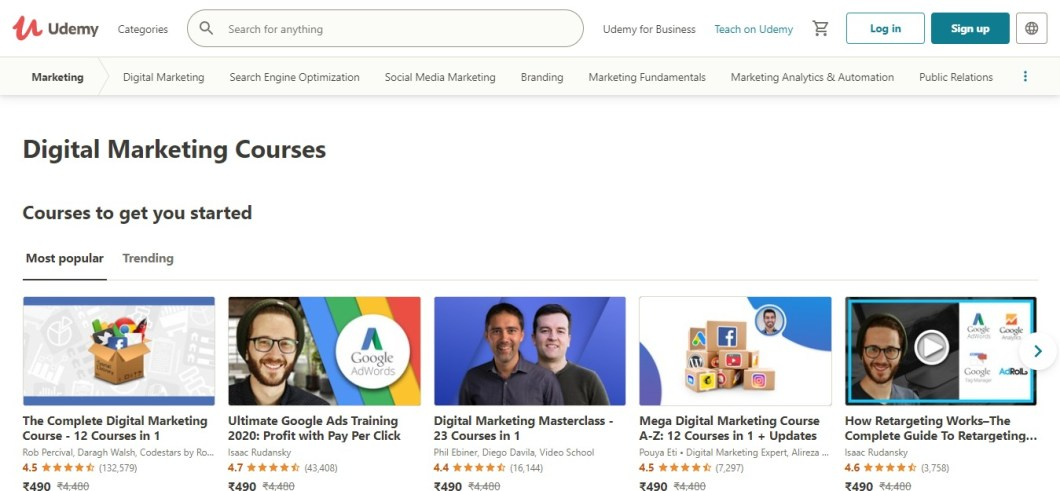 Udemy Digital Marketing Courses Online