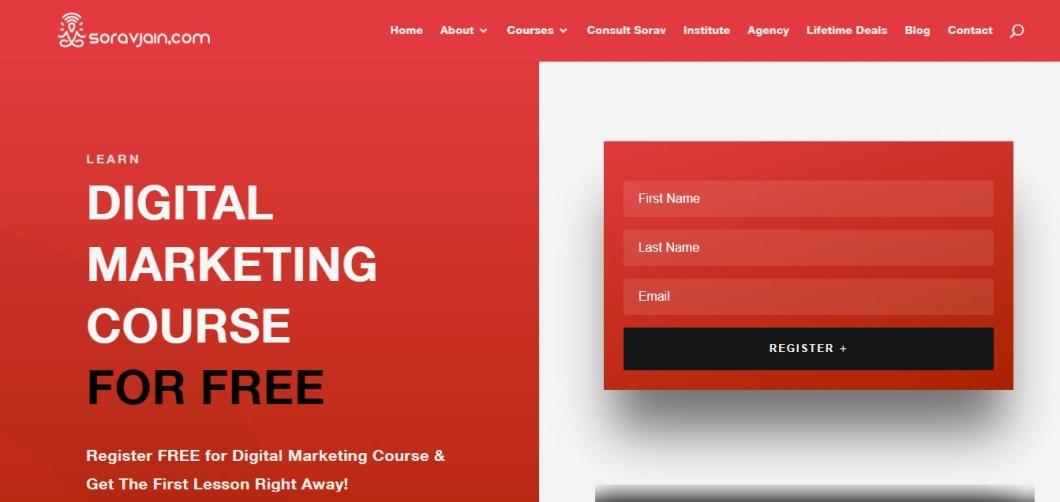 sorav jain free online digital marketing courses
