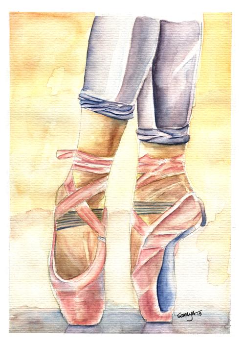 soraya pamplona ilustração aquarela serie ballet-01
