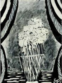 'Untitled X' ink on paper, 19 by 15 inches, 2010 (sold)
