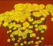 'Yellow' oil on canvas, 24 by 24 inches, 2010 (sold)
