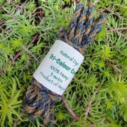 Hemp Tri-Colour Cordage (Ocean Green)