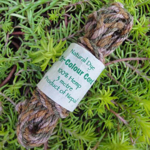 Hemp Tri-Colour Cordage (Field Green)