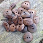 Chunky wood buttons