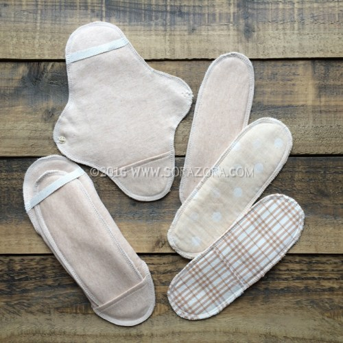 Organic cotton sanitary napkin