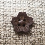 Sakura Flower Coconut Buttons