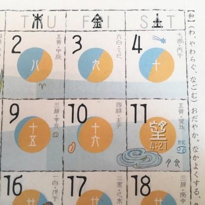Hacarame Moon Calendar 2020