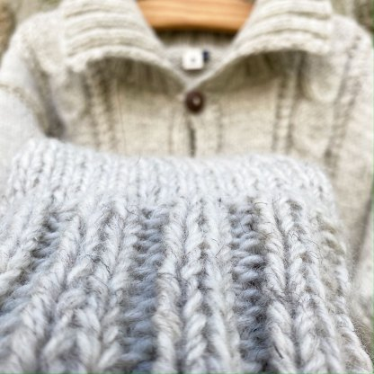 Cable Knit High Collar Jacket