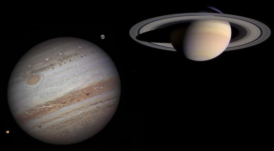 Jupiter with Saturn