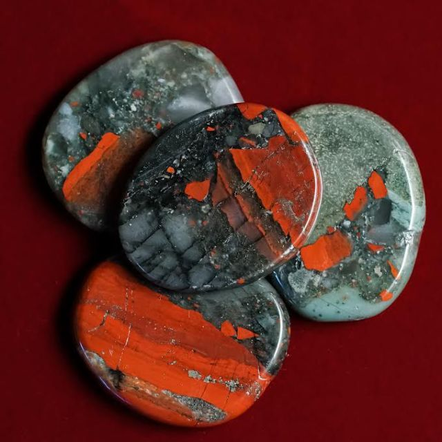 Bloodstone cabochons