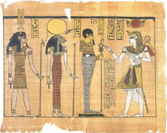 The Gods of Memphis and Ramses III, on papyrus.
