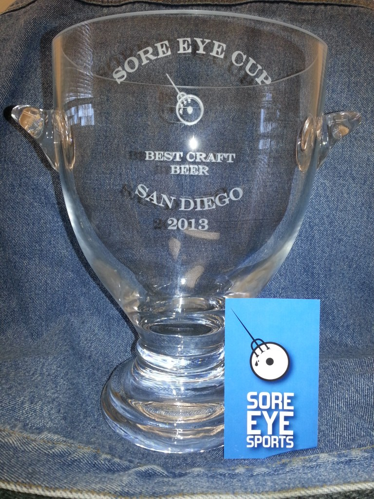 The Sore Eye Cup, an award for San Diego's best craft beer