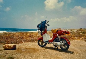 The moped.