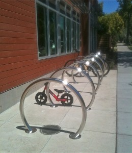 There is nothing like the gleam of brand new bike racks.