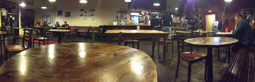 A pint glass coffeehouse.
