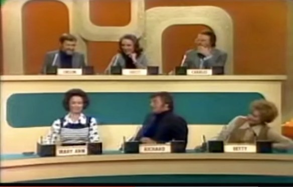 The Panel: Orson Bean, Brett Somers, Charles Nelson Reilly, Mary Ann Mobley, Richard Dawson, Betty White