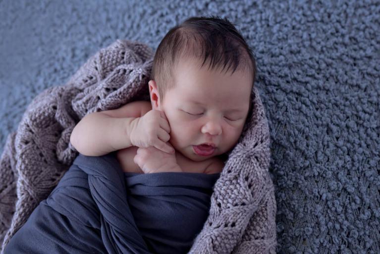 Baby Stone in Blanket