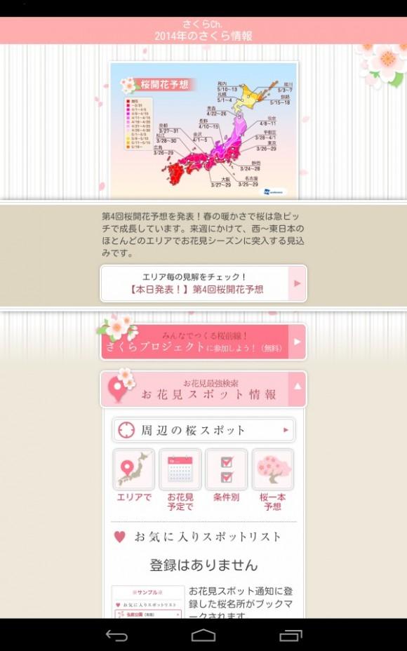花見情報サイト