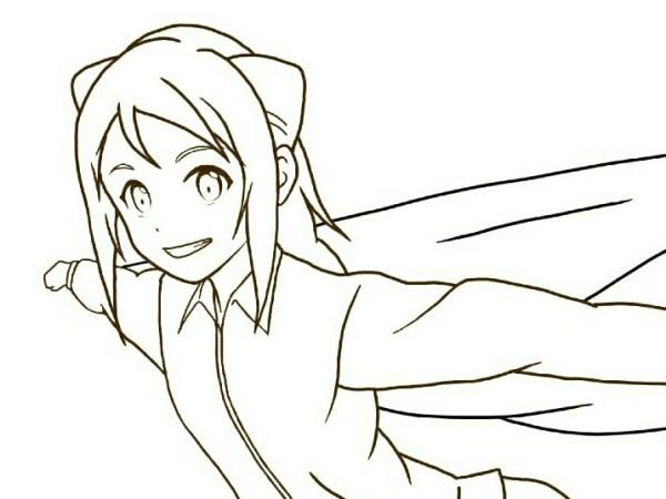 亜人ちゃんは語りたいのイラスト線画
