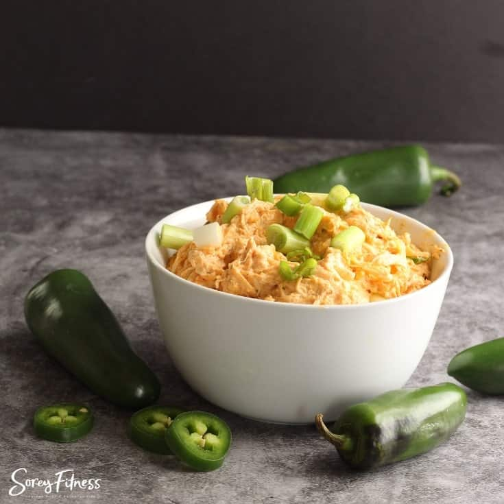 Skinny Buffalo Chicken Dip Crock Pot Recipe: Keto & Low