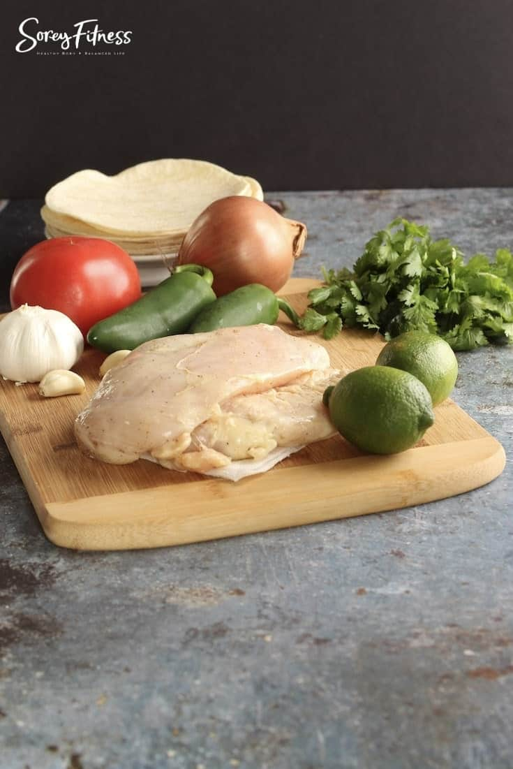 ingredients for chicken street tacos