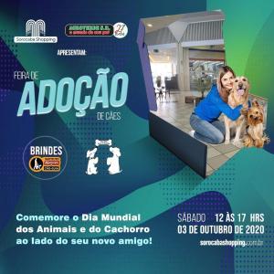 O Sorocaba Shopping promove feira de adoção de cães em prol do dia mundial dos animais