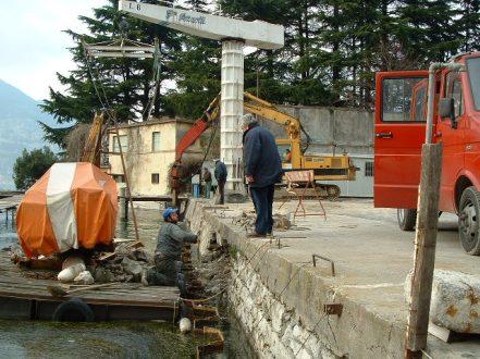 Palancole per la costruzione di banchine