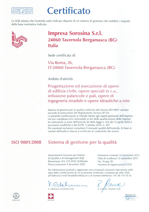 Certificati ISO